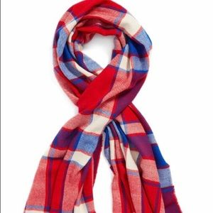 BP Scarf | Red/WhiteBlue Plaid | 30'x72'